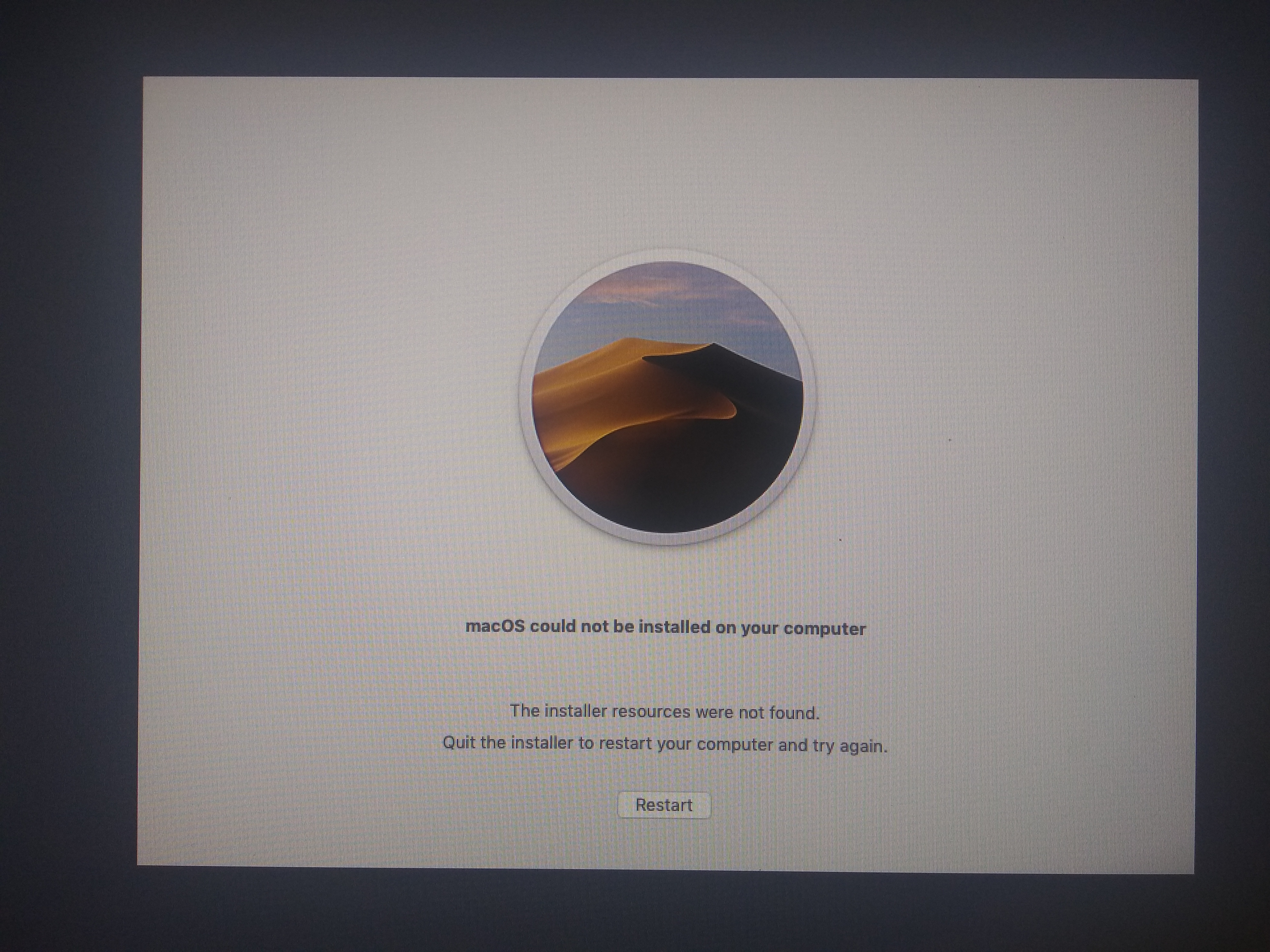Macos Could Not Be Installed On Your Computer The Installer